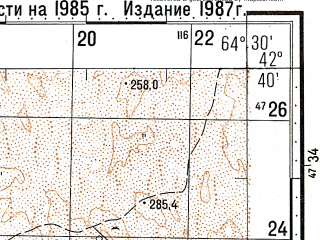 Reduced fragment of topographic map ru--gs--100k--k41-057--N042-40_E064-00--N042-20_E064-30
