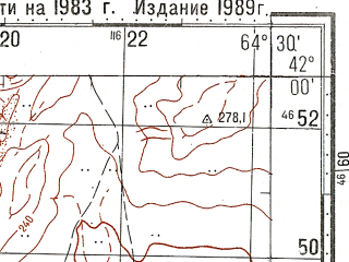 Reduced fragment of topographic map ru--gs--100k--k41-081--N042-00_E064-00--N041-40_E064-30; towns and cities Beshbulak