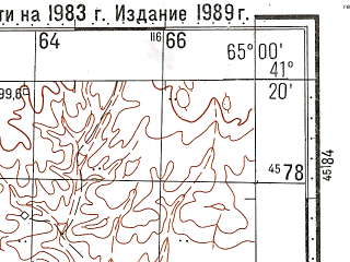 Reduced fragment of topographic map ru--gs--100k--k41-106--N041-20_E064-30--N041-00_E065-00