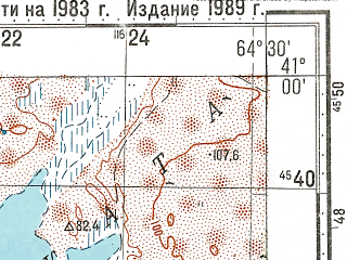 Reduced fragment of topographic map ru--gs--100k--k41-117--N041-00_E064-00--N040-40_E064-30; towns and cities Ayakagytma, Chengeldy