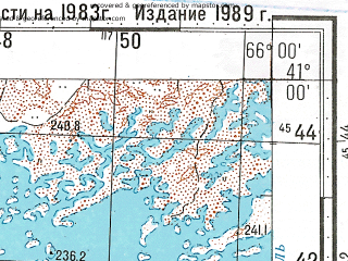 Reduced fragment of topographic map ru--gs--100k--k41-120--N041-00_E065-30--N040-40_E066-00