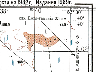 Reduced fragment of topographic map ru--gs--100k--k41-127--N040-40_E063-00--N040-20_E063-30
