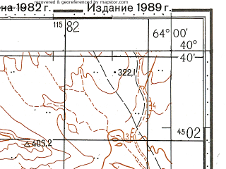 Reduced fragment of topographic map ru--gs--100k--k41-128--N040-40_E063-30--N040-20_E064-00