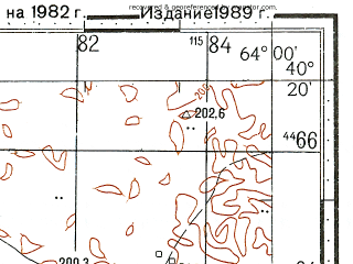 Reduced fragment of topographic map ru--gs--100k--k41-140--N040-20_E063-30--N040-00_E064-00