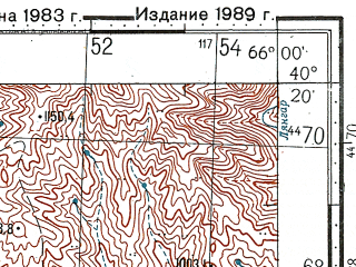 Reduced fragment of topographic map ru--gs--100k--k41-144--N040-20_E065-30--N040-00_E066-00; towns and cities Changir, Yangirabad, Ziadin