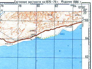 Download topographic map in area of Leninabad Chkalovsk Sovetabad
