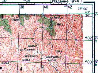 Reduced fragment of topographic map ru--gs--100k--k43-036--N043-20_E077-30--N043-00_E078-00