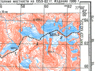Reduced fragment of topographic map ru--gs--100k--k43-046--N043-00_E076-30--N042-40_E077-00