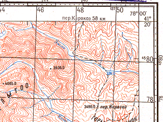 Reduced fragment of topographic map ru--gs--100k--k43-108--N041-20_E077-30--N041-00_E078-00