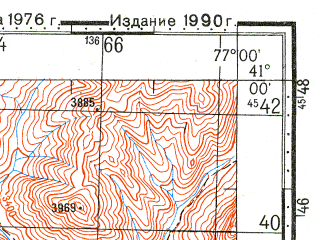 Reduced fragment of topographic map ru--gs--100k--k43-118--N041-00_E076-30--N040-40_E077-00
