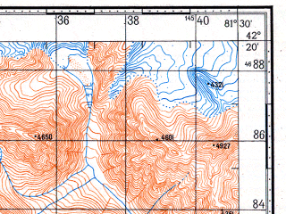 Reduced fragment of topographic map ru--gs--100k--k44-067--N042-20_E081-00--N042-00_E081-30