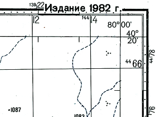 Reduced fragment of topographic map ru--gs--100k--k44-136--(1978)--N040-20_E079-30--N040-00_E080-00