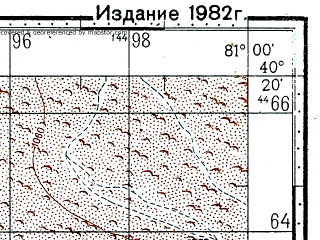 Reduced fragment of topographic map ru--gs--100k--k44-138--(1973)--N040-20_E080-30--N040-00_E081-00