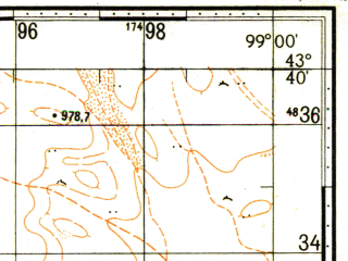 Reduced fragment of topographic map ru--gs--100k--k47-018--N043-40_E098-30--N043-20_E099-00