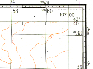 Reduced fragment of topographic map ru--gs--100k--k48-022--N043-40_E106-30--N043-20_E107-00