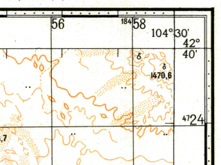 Reduced fragment of topographic map ru--gs--100k--k48-053--N042-40_E104-00--N042-20_E104-30