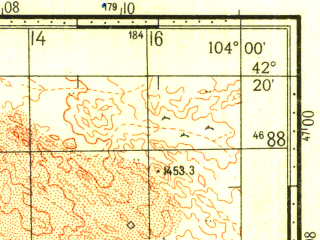 Reduced fragment of topographic map ru--gs--100k--k48-064--N042-20_E103-30--N042-00_E104-00