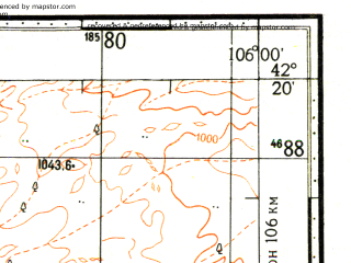 Reduced fragment of topographic map ru--gs--100k--k48-068--N042-20_E105-30--N042-00_E106-00