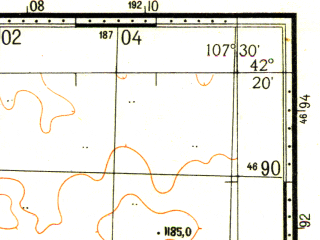 Reduced fragment of topographic map ru--gs--100k--k48-071--N042-20_E107-00--N042-00_E107-30