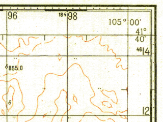 Reduced fragment of topographic map ru--gs--100k--k48-090--N041-40_E104-30--N041-20_E105-00