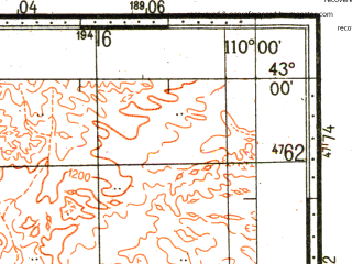 Reduced fragment of topographic map ru--gs--100k--k49-040--N043-00_E109-30--N042-40_E110-00