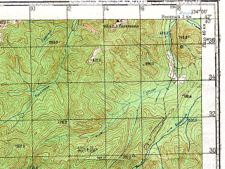 Reduced fragment of topographic map ru--gs--100k--k53-016--N043-40_E133-30--N043-20_E134-00; towns and cities Lazo