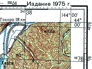 Reduced fragment of topographic map ru--gs--100k--k54-012--N044-00_E143-30--N043-40_E144-00