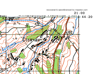 Download topographic map in area of Kragujevac Arandelovac