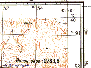 Reduced fragment of topographic map ru--gs--100k--l46-094--N045-40_E094-30--N045-20_E095-00