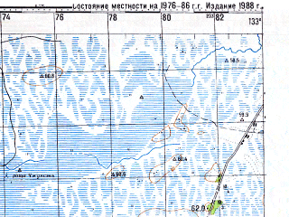Reduced fragment of topographic map ru--gs--100k--l53-075--N046-00_E133-00--N045-40_E133-30; towns and cities Chiao-chia-liang-tzu, Liu-lin-tun, Ma-chia-liang-tsu