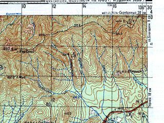 Reduced fragment of topographic map ru--gs--100k--l53-117--N045-00_E136-00--N044-40_E136-30; towns and cities Plastun, Klyuchi, Zhadonok
