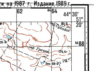 Reduced fragment of topographic map ru--gs--100k--m38-029--(1987)--N051-20_E044-00--N051-00_E044-30; towns and cities Lemeshkino, Malaya Vorontsovka, Morets