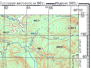 Reduced fragment of topographic map ru--gs--100k--m45-008--N052-00_E087-30--N051-40_E088-00; towns and cities Biyka
