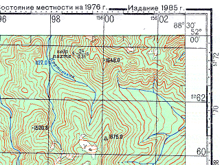 Reduced fragment of topographic map ru--gs--100k--m45-009--N052-00_E088-00--N051-40_E088-30