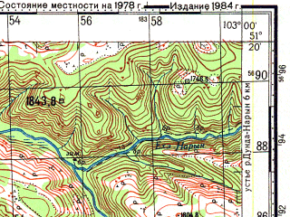 Reduced fragment of topographic map ru--gs--100k--m48-026--N051-20_E102-30--N051-00_E103-00