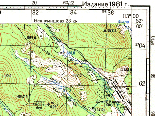 Reduced fragment of topographic map ru--gs--100k--m49-010--N052-00_E112-30--N051-40_E113-00; towns and cities Sokhondo, Yablonovo
