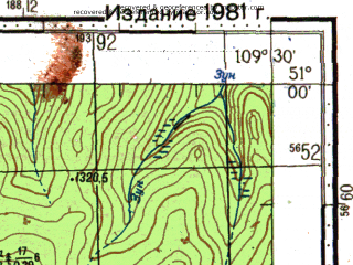 Reduced fragment of topographic map ru--gs--100k--m49-039--N051-00_E109-00--N050-40_E109-30