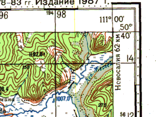 Reduced fragment of topographic map ru--gs--100k--m49-054--N050-40_E110-30--N050-20_E111-00