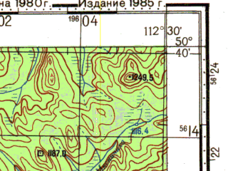 Reduced fragment of topographic map ru--gs--100k--m49-057--N050-40_E112-00--N050-20_E112-30