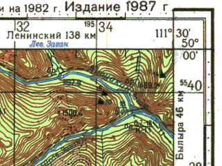 Reduced fragment of topographic map ru--gs--100k--m49-079--N050-00_E111-00--N049-40_E111-30