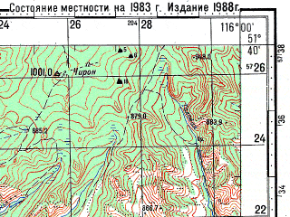 Reduced fragment of topographic map ru--gs--100k--m50-016--N051-40_E115-30--N051-20_E116-00