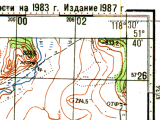 Reduced fragment of topographic map ru--gs--100k--m50-021--N051-40_E118-00--N051-20_E118-30; towns and cities Tayna, Trubachevo, Gazimurskiy Zavod