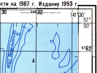 Reduced fragment of topographic map ru--gs--100k--m54-007--N052-00_E141-00--N051-40_E141-30; towns and cities Sushchevo