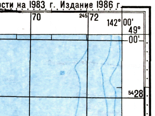 Reduced fragment of topographic map ru--gs--100k--m54-116--N049-00_E141-30--N048-40_E142-00; towns and cities Orlovo