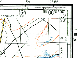 Reduced fragment of topographic map ru--gs--100k--n46-098--(1961)--N053-20_E090-30--N053-00_E091-00; towns and cities Askiz, Beya