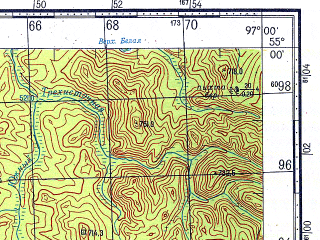 Reduced fragment of topographic map ru--gs--100k--n47-038--N055-00_E096-30--N054-40_E097-00
