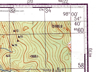 Reduced fragment of topographic map ru--gs--100k--n47-052--N054-40_E097-30--N054-20_E098-00; towns and cities Neroy Vtoroy