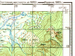 Reduced fragment of topographic map ru--gs--100k--n50-103--N053-20_E117-00--N053-00_E117-30