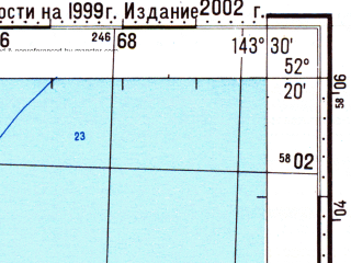 Reduced fragment of topographic map ru--gs--100k--n54-143--N052-20_E143-00--N052-00_E143-30; towns and cities Val