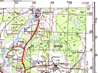Reduced fragment of topographic map ru--gs--100k--o37-119--N057-00_E041-00--N056-40_E041-30; towns and cities Shuya, Kokhma, Kolobovo, Novyye Gorki, Chentsy